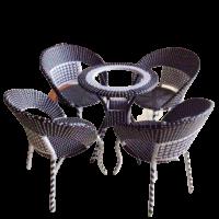 Bàn ghế nhựa mây 02