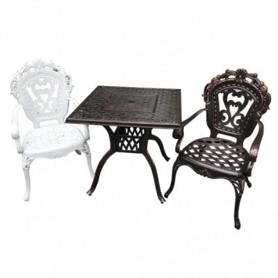 Bộ bàn nhôm đúc, 2 ghế