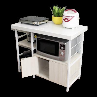 Kệ bếp tủ 2 cánh đá trắng - khung trắng - sồi trắng
