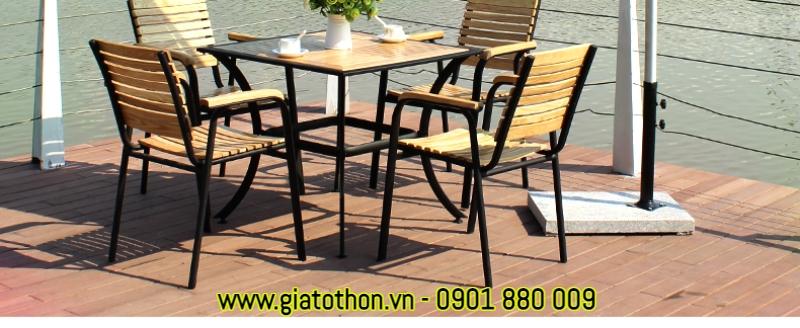 bàn ghế gỗ ngoài trời đẹp bán chạy