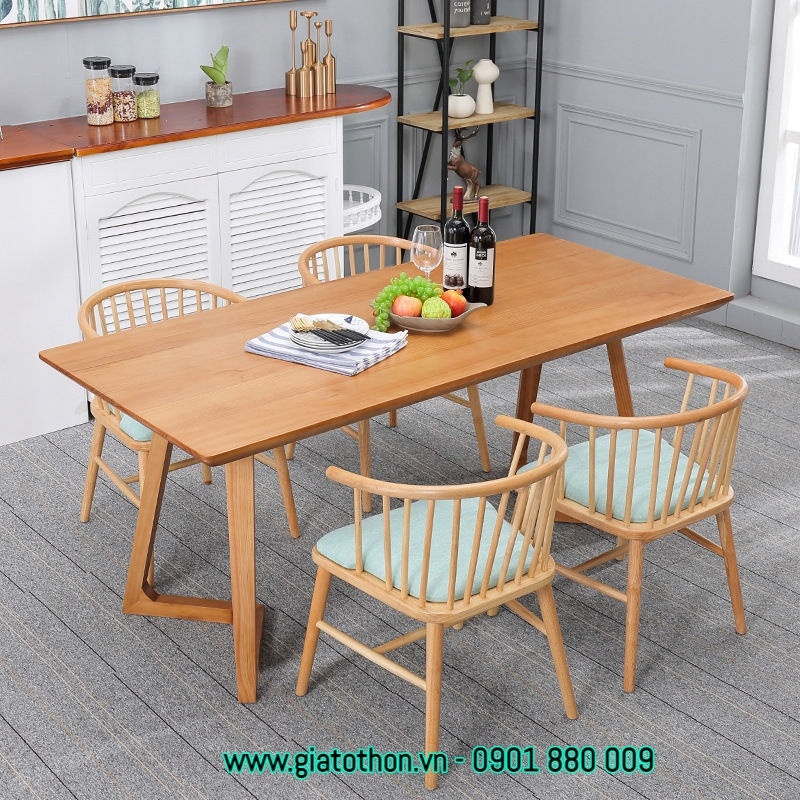 bàn gỗ phòng ăn