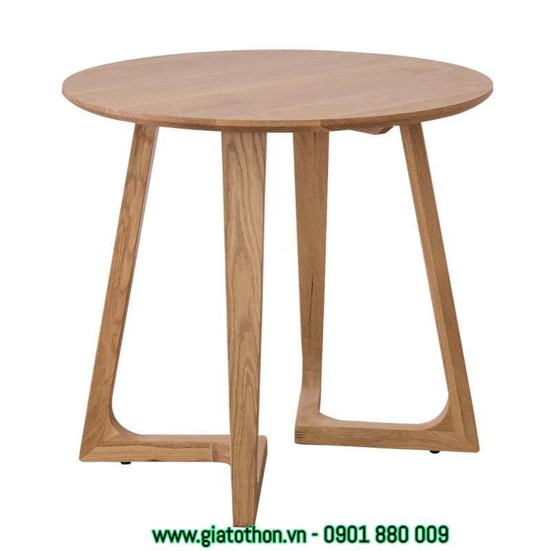 bàn tròn gỗ