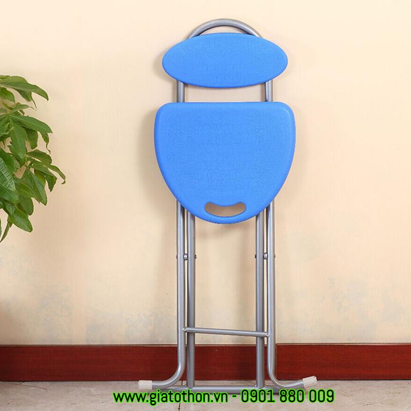 ghế xếp nhựa chân inox gấp gọn