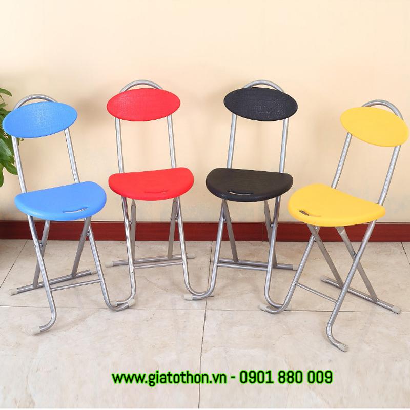 ghế xếp nhựa chân inox rẻ