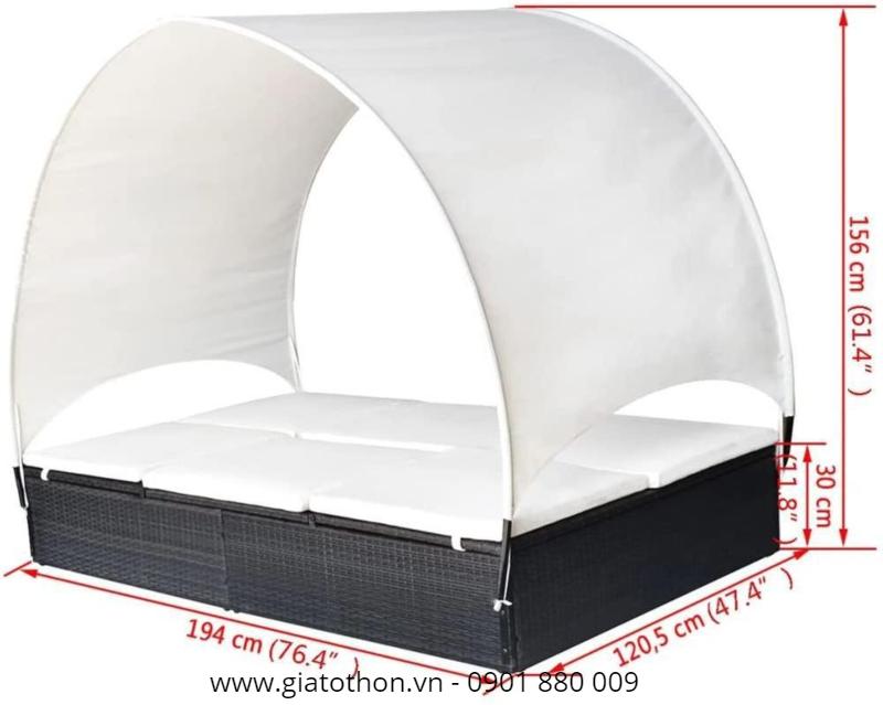 giường tắm nắng mây nhựa tốt tại hcm