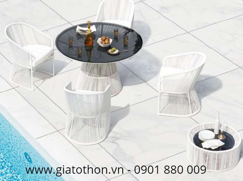 nơi mua bàn ghế mây nhựa