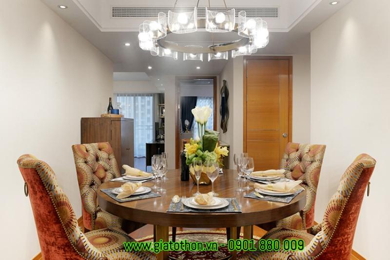 phòng ăn phong cách retro